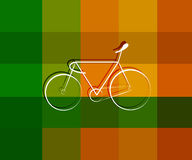Sports Bicycle symbol design on texture background Stock Images