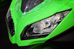 Motorcycle headlights Stock Images