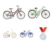Sports bike and other types.Different bicycles set collection icons in cartoon style vector symbol stock illustration Stock Photography