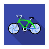 A sports bike for a quick ride down the road. Bicycle ecological economical transport.Transport single icon in flat Royalty Free Stock Image