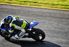 Sports bike racing in Sydney race track royalty free stock images