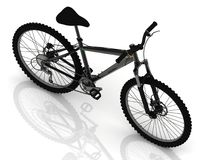 Sports bike with wheels and brake levers Stock Photography
