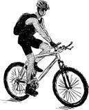 Sports biker Stock Photo