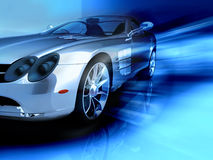 Sports blue car Stock Photo