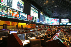 Sports book. Display at a sports book in a casino in Las Vegas Royalty Free Stock Photo