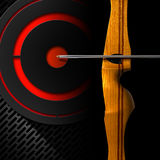 Sports Bow - Arrow and Target Stock Image