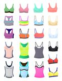 Sports bras and t-shirts Stock Images
