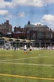 Sports in Brooklyn Bridge Park Stock Image