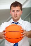 Sports business man Royalty Free Stock Image
