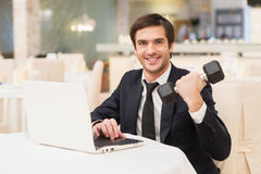 Sports and business. Stock Image