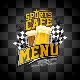 Sports cafe menu card design Royalty Free Stock Images