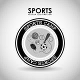 Sports camp. Design, vector illustration eps10 graphic royalty free illustration
