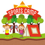 Sports camp Royalty Free Stock Image