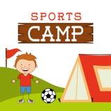 Sports camp. Design, vector illustration eps10 graphic stock illustration