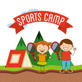 Sports camp Stock Image