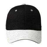 Sports cap isolated on a white background .cap with a black top. And gray visor Stock Photos