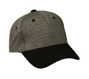 Sports cap isolated on a white background . Gray cap with black Royalty Free Stock Image
