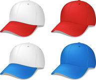 Sports Caps - realistic vector illustrations Royalty Free Stock Images