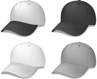 Sports Caps - Realistic Vector Illustrations Stock Photography