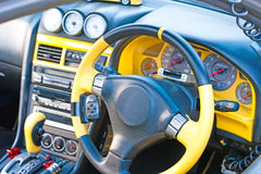 Sports car. Interior of a sports car Stock Photography