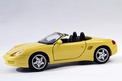 Sports car. Beautiful yellow sports car. Great colors Stock Photos