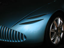 Sports car. Futuristic sports car in metallic blue Royalty Free Stock Photos