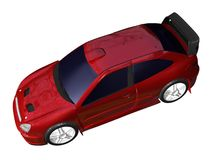 Sports car. Illustration of a red sports car pictured from top isolated on a white background Royalty Free Stock Image