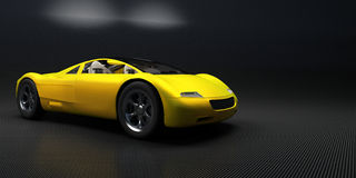 Sports car. Yellow sports car on a neutral background vector illustration