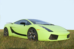 Sports car. Picture of a 2door sports car on a grassy land royalty free stock image