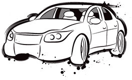 Sports Car. An illustrated sketch of a sports car Stock Photo