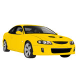 Sports Car. A yellow sports car vector illustration