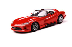 Sports car. Isolated red sports car on a white background Royalty Free Stock Photo