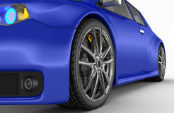 Sports car - 3d render Royalty Free Stock Photos