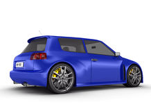 Sports car - 3d render Royalty Free Stock Images