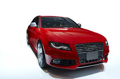 Sports car. Red sports car on a white background Stock Photo