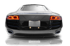 Sports car. Silver sports car on a white background Royalty Free Stock Photography