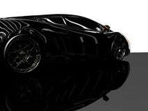 Sports car. 3d render of sports car Royalty Free Stock Photography