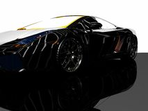 Sports car. 3d render of sports car Royalty Free Stock Images