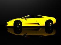 Sports car. 3d render of sports car Royalty Free Stock Photos