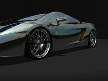 Sports car. Detailed 3d render of sports car Stock Photos