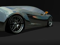 Sports car. Detailed 3d render of sports car Royalty Free Stock Photography