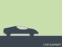 Sports car advertising background design Royalty Free Stock Photo