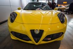 Sports car Alfa Romeo 4C Spider Type 960, 2015. Royalty Free Stock Photos