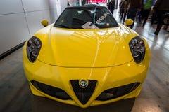 Sports car Alfa Romeo 4C Spider Type 960, 2015. Stock Image