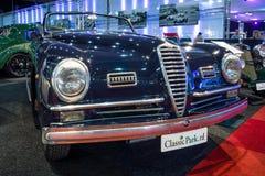 Sports car Alfa Romeo 6C 2500 SS Pinin Farina Cabriolet, 1947. MAASTRICHT, NETHERLANDS - JANUARY 14, 2016: Sports car Alfa Romeo 6C 2500 SS Pinin Farina Stock Photo