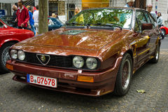 Sports car Alfa Romeo GTV6. BERLIN - JUNE 14, 2015: Sports car Alfa Romeo GTV6. The Classic Days on Kurfuerstendamm Stock Images