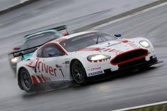 Sports Car,Aston Martin DB9(FIA GT). FIA GT1 World Championship, Aston Martin DB9, August 27th. 2010. GERMANY, Circuit Nurburgring Stock Image