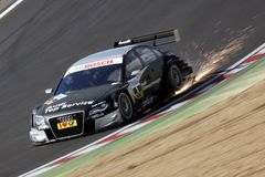Sports Car,Audi A4 DTM 09(DTM). DTM race: in ENGLAND, Circuit BRANDS-HATCH, September 03rd, 2010. Timo SCHEIDER,GW:plus/Top Service Audi A4 DTM 09,#Abt Royalty Free Stock Photography