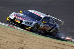 Sports Car,Audi A4 DTM 09(DTM). DTM race: in ENGLAND, Circuit BRANDS-HATCH, September 03rd, 2010. Martin TOMCZYK,Red Bull Cola Audi A4 DTM 09,#Abt Sportsline Royalty Free Stock Images