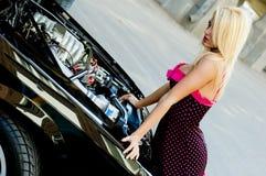 Sports Car Blonde Royalty Free Stock Photos